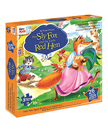 Braino Kids My Fairy Puzzle The Sly Fox And The Little Red Hen - 26 Pieces
