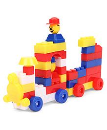Ratnas Junior Happy Train Building Block Set - Multicolour