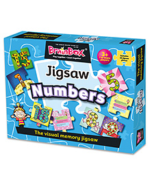 Green Board BrainBox Numbers Jigsaws Puzzle Multicolor - 25 Pieces