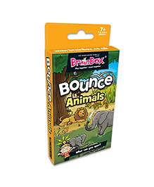 Green Board BrainBox Bounce Animals Card Game - Multicolor
