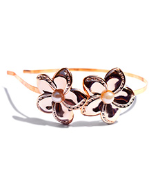 Little Tresses Flower With Beads On Hairband - Golden