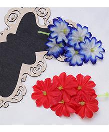 D'chica Ethnic Inspired Flower Hair Clips - Multicolour