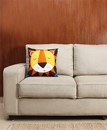 HouseThis The Noble Lion Pure Cotton Cushion Cover - Multicolor
