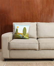 HouseThis The Sleepy Summer Pure Cotton Cushion Cover - Green & White
