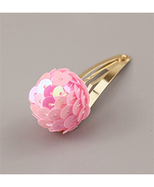 Angel Closet Sequinned Ball Hair Clip - Pink