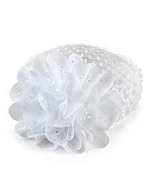Pikaboo Crochet Cutwork Floral Headband - White