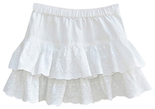 Bottom Embroidered Skirt 7 - 8 Years, Stylish & Trendy Tiered Cotton Skirt