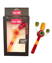 Kidz Valle Tik Tak Rattle - Red Yellow Green