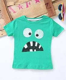 Tonyboy Cute Face Printed T-Shirt - Green