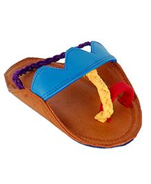 Snugons Kolhapuri Style Slipons - Brown & Red
