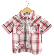 Beebay - Check Shirt with Emroidery