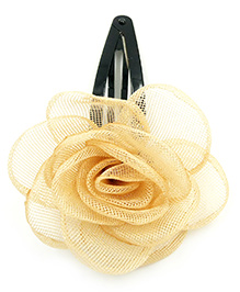 Magic Needles Tic Tac Hair Clips With Net Rose - Beige