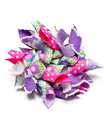 Ribbon Candy Floral Korkers Hair Clip - Multicolour