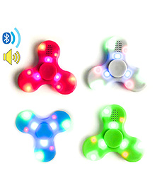 Emob Fidget Hand Spinner With Bluetooth Speaker And LED Light (Color May Vary)