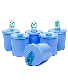 Small Wonder Baby Snack Jar With Dispenser Pack Of 6 - Blue