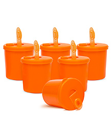 Small Wonder Baby Snack Jar With Dispenser Pack Of 6 - Orange