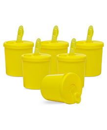 Small Wonder Baby Snack Jar With Dispenser Pack Of 6 - Yellow