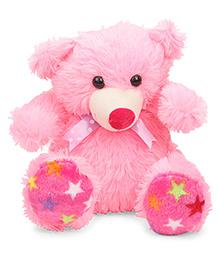 Liviya Sitting Teddy Bear Soft Toy Pink - 28 Cm