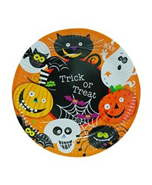 Partymanao Trick Or Treat Halloween Plates - Pack Of 10