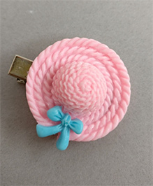 Tiny Closet Hat With A Bow Hair Clip - Baby Pink