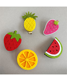 Tiny Closet Fruit Punch Hair Clips Set Of 5 - Multicolor