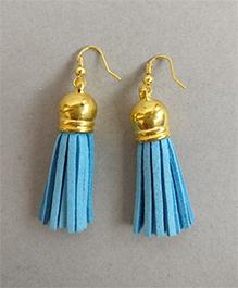 Tiny ClosetTassel Earrings - Blue