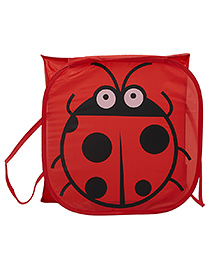 Ez Life Beetle Printed Laundary Basket - Red
