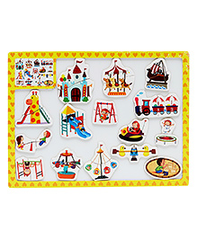 EZ Life Kids Puzzle With Magnetic White Board - Yellow