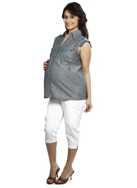 Nine - Sleeveless Short Maternity Shirt