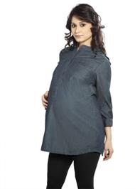Nine - Maternity Crush Denim Tunic