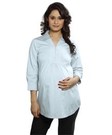 Nine - Stretch Cotton Maternity Shirt