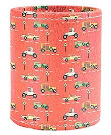 The Crazy Me Vintage Cars Pen Stand - Orange