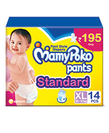 MamyPoko Pants Standard Pant Style Diapers Extra Large - 14 Pieces