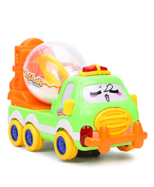 Playmate Battery Operated Cement Mixer Truck With Light And Music - Green
