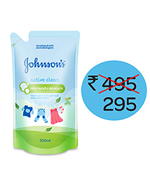 Johnson's Baby Active Clean Laundry Detergent  - 500 Ml