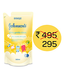 Johnson's Baby Ultra Gentle Clean Laundry Detergent  - 500 Ml