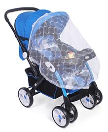 Stroller Cum Pram With Mosquito Net - Blue