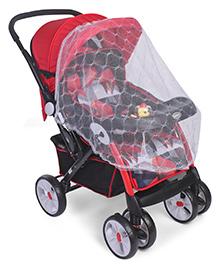 Stroller Cum Pram With Mosquito Net - Red