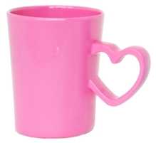 L'Orange Heart Shaped Handle Mug Pink