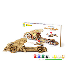 Funvention Da Vinci Chariot Build Your Working Mechanical Model - Brown