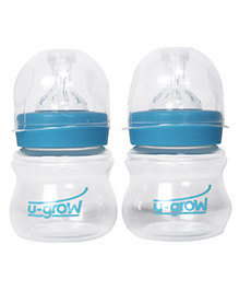 U-grow Wide Neck Polypropylene Feeding Bottle Pack Of 2 - 125 Ml