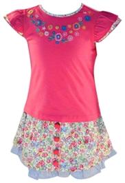 Nauti Nati - Floral Printed Skirt Top Set