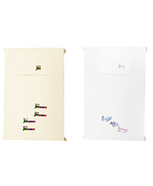 Baby Rap Trains N Planes 3 Crib Sheet With Pillow Cover Set Of 2 - Yellow White