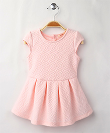 Fox Baby Short Sleeves Frock - Pink Image