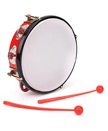 Ratnas Musical Daffli With Two Sticks Junior - Red