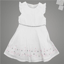ShopperTree - Short Sleeve White Frock