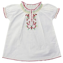 Shopper Tree - Half Sleeves Top With Embroidery