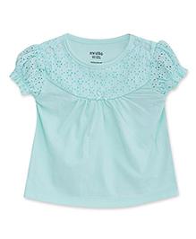 FS Mini Klub Half Sleeves Top Hakoba Design - Sea Green