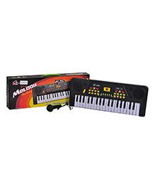 Magic Pitara Musical Keyboard 37 Keys With Microphone - Black