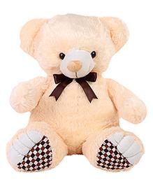 Liviya Teddy Bear Soft Toy With Bow Cream - Height 57.5 Cm